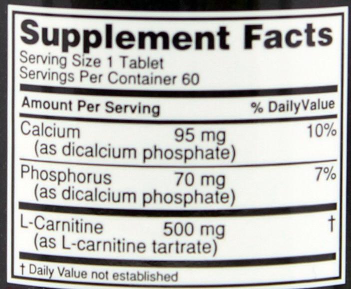 Optimum Nutrition L-Carnitine 500 (60 Tabs) image