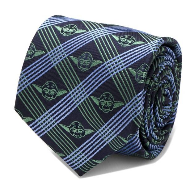 Star Wars: Yoda (Navy) - Modern Plaid Tie