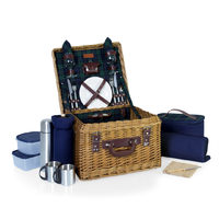 Canterbury Ultimate Picnic Basket - Navy/Green Tartan