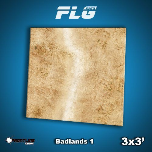 FLG Badlands #1 Neoprene Gaming Mat (3x3)