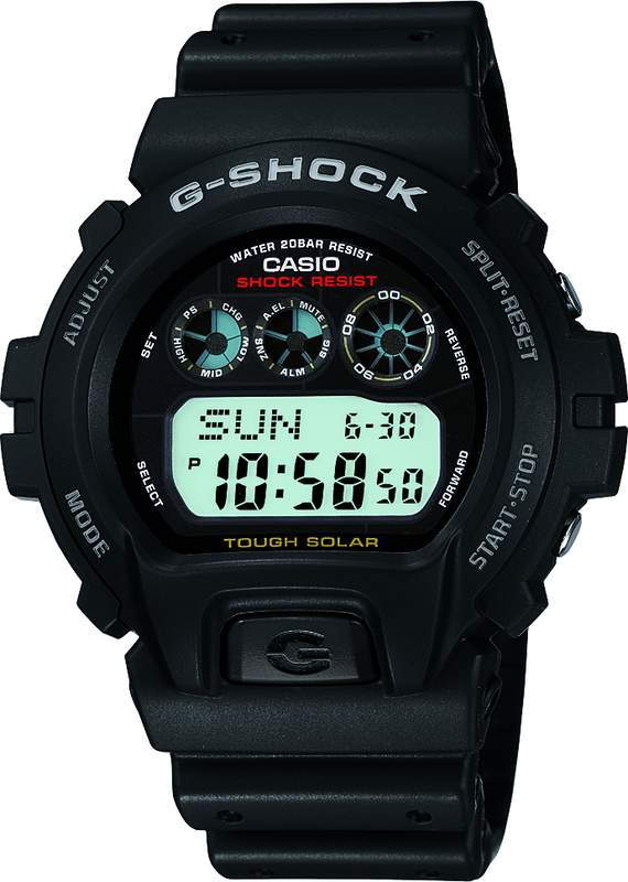 Casio G-Shock Digital Mens Black Tough Solar Watch G-6900-1DR