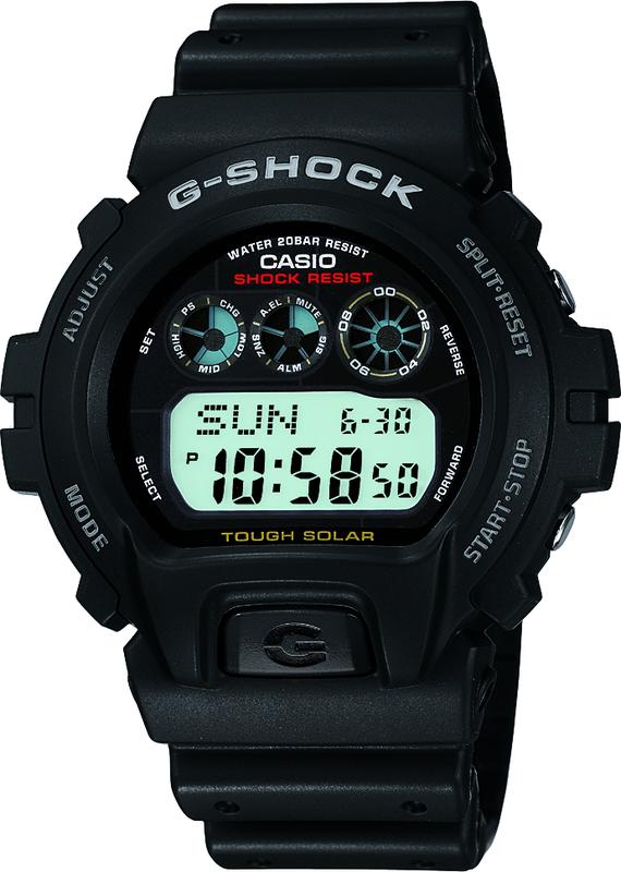 Casio G-Shock Digital Mens Black Tough Solar Watch G-6900-1DR