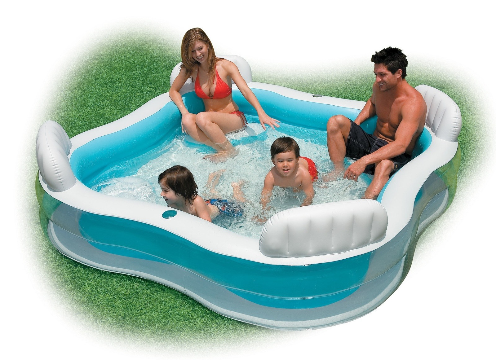 Intex Swim Center Family Lounge Inflatable Pool Images At Mighty Ape Nz