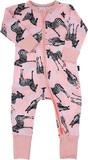 Bonds Zip Wondersuit Long Sleeve - Stitch Zebra - 3-6 Months