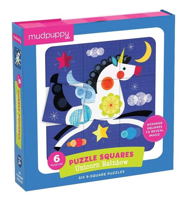 Mudpuppy: Unicorn Rainbow - Puzzle Squares
