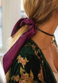 Natural Life: Scarf & Scrunchie - Berry image