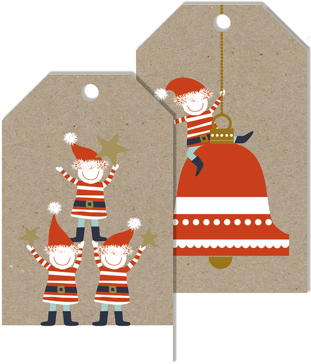 Christmas Gift Tags - Pip & Me (Pack of 10)
