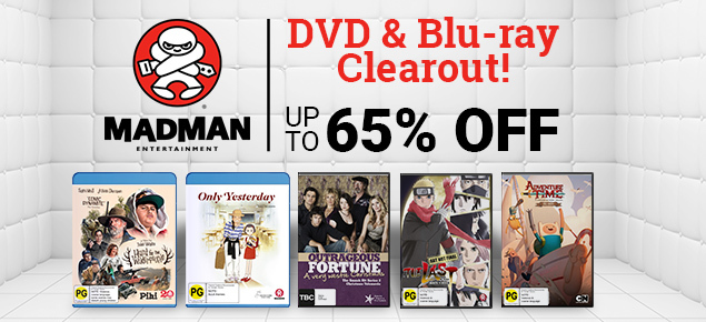 Madman Entertainment DVD & Blu-ray Clearout! Up to 65% off!