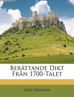 Berttande Dikt Frn 1700-Talet by Rolf Hillman