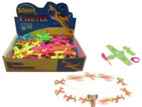 Sonic Fighter - Cord Flying Plane (Assorted Colours)