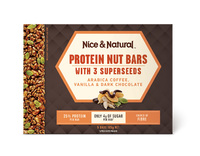 Nice & Natural: Protein Nut Bars - Coffee/Vanilla/Choc (165g)