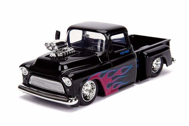 Jada 1/24 '55 Chevy Stepside Gloss Black - Diecast Model