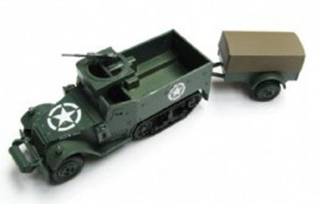 Airfix White Half Track M3A1 & 1 Ton Trailer 1:76 Model Kit