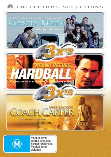 3x's - Varsity Blues / Hardball / Coach Carter (Collectors Selections) (3 Disc Set) on DVD image