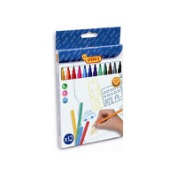 Jovi Felt Tip Markers - Assorted Colours (12 Pack)