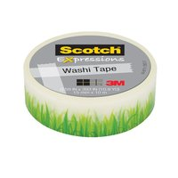 Scotch Expressions Washi Tape - Green Grass (15mm x 10m)
