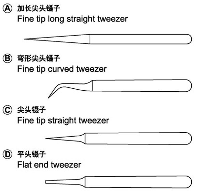 Trumpeter: Master Tools - Tweezers (Set Of 4) image