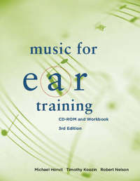 Music for Ear Training: CD-Rom and Workboook by Michael Horvit image