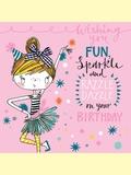Rachel Ellen: Fun Sparkle Razzle Dazzle Birthday - Greeting Card