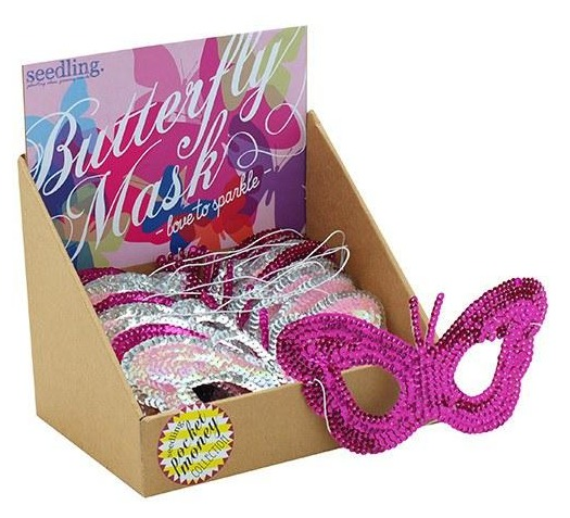 Seedling: Love to Sparkle - Butterfly Mask (Assorted Colours)
