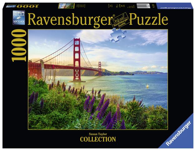 Ravensburger: 1,000 Piece Puzzle - Golden Gate Sunrise