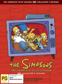 The Simpsons - The Complete Fifth Season on DVD image