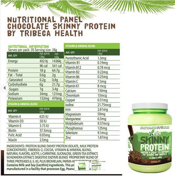 Skinny Protein Chocolate 1KG