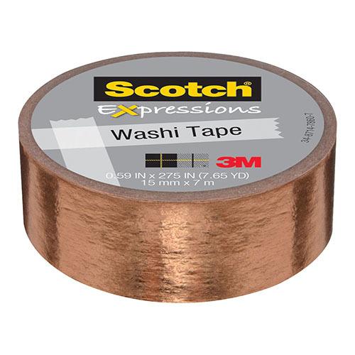 Scotch Expressions: Foil Washi Tape - Copper (15mm x 7m)