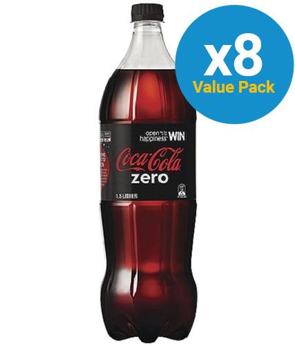 Coke Zero Soft Drink 1.5l (8 Pack)