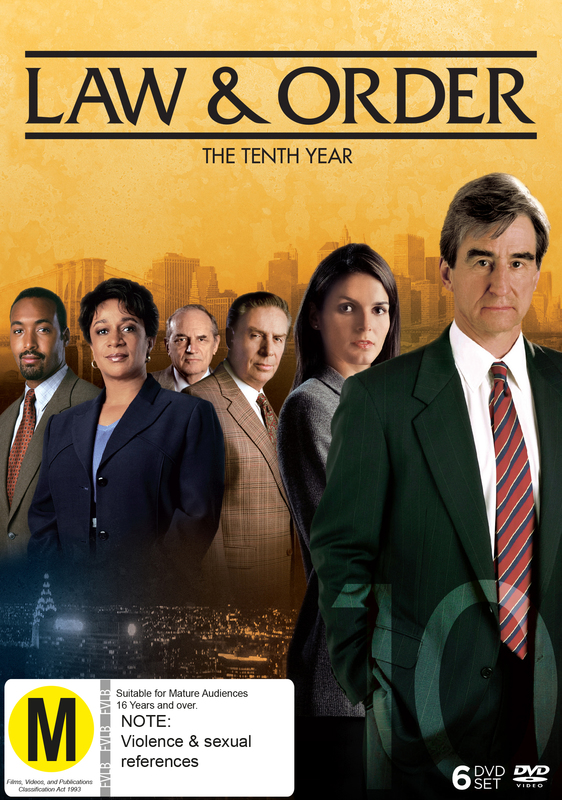Law and Order - The Tenth Year (6 Disc Set) on DVD