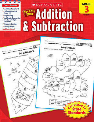 Scholastic Success with Addition & Subtraction, Grade 3 by Scholastic image