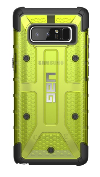 UAG Plasma Case for Galaxy Note 8 (Citron/Black) image