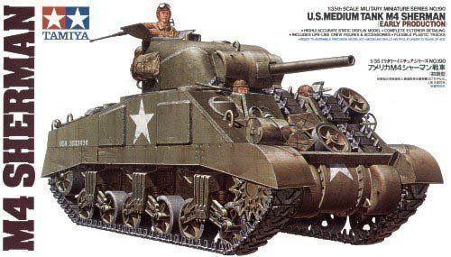 Tamiya U.S. Medium Tank M4 Sherman Early Production 1/35 Model Kit