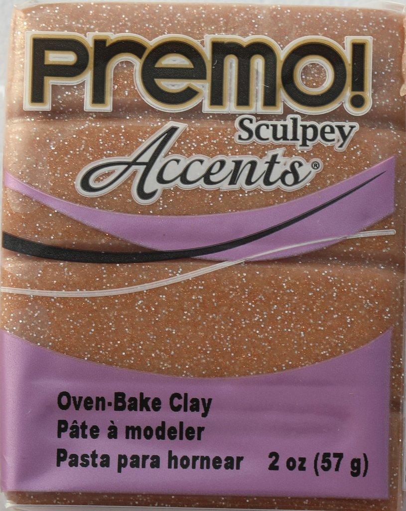 Sculpey Premo Accent Rose Gold Glitter (57g) image