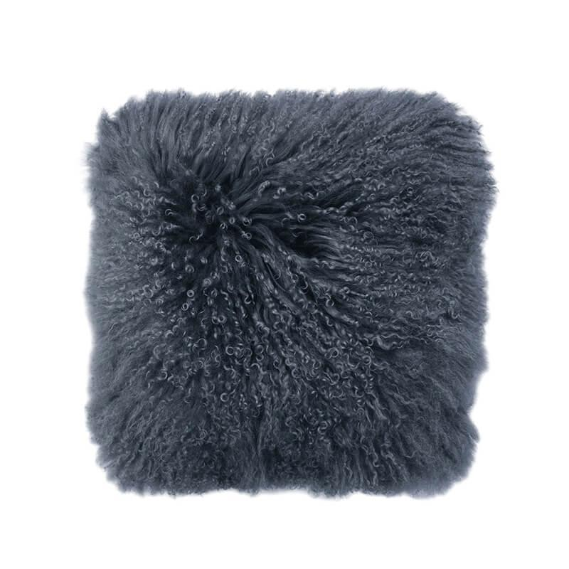 Bambury Mongolian Lambswool Cushion (Slate) image