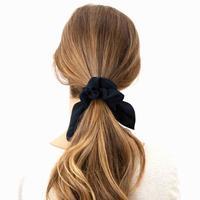 Hepburn & Co: Knot Tie Scarf Scrunchie - Black