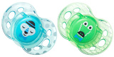 Closer to Nature Fun Style Soother 6-18 Months (Blue and Green) - 2 Pack