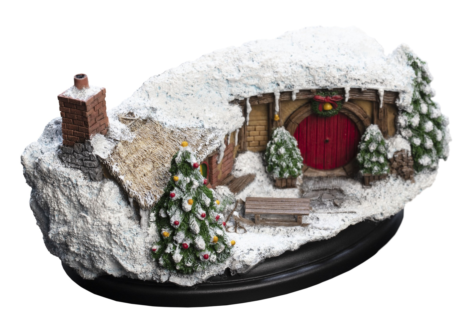 The Hobbit: 35 Bagshot Row (Christmas Edition) - Hobbit Hole Statue image