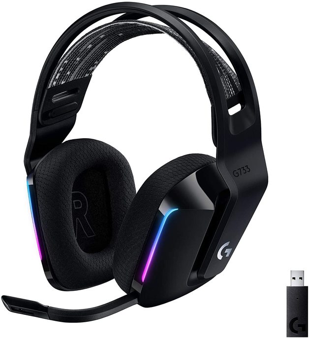 Logitech G733 LIGHTSPEED Wireless RGB Gaming Headset - Black for PC