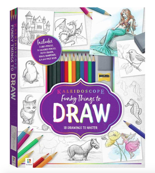 Hinkler: Kaleidoscope Funky Things to Draw - Animals and more!