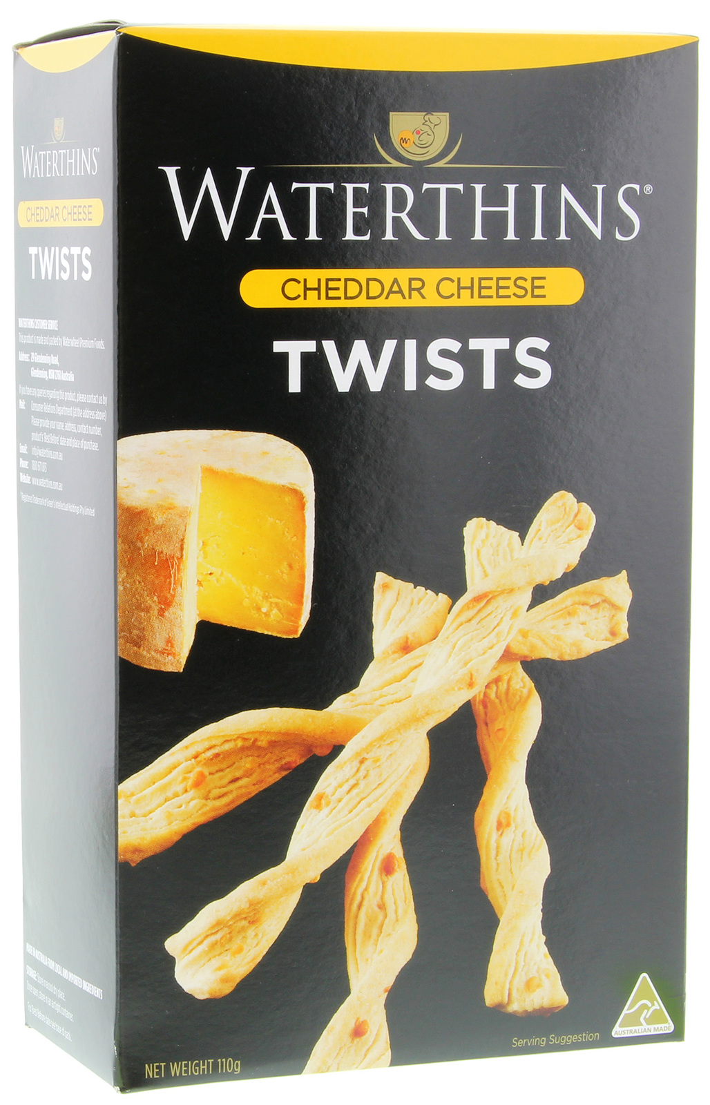 Waterthins Classic Cheddar Twists (110g) image