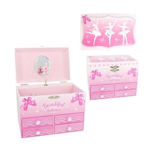 Pink Poppy: Beautiful Ballerina - Medium Music Box (Pink)