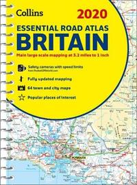 2020 Collins Essential Road Atlas Britain and Northern Ireland by Collins Maps