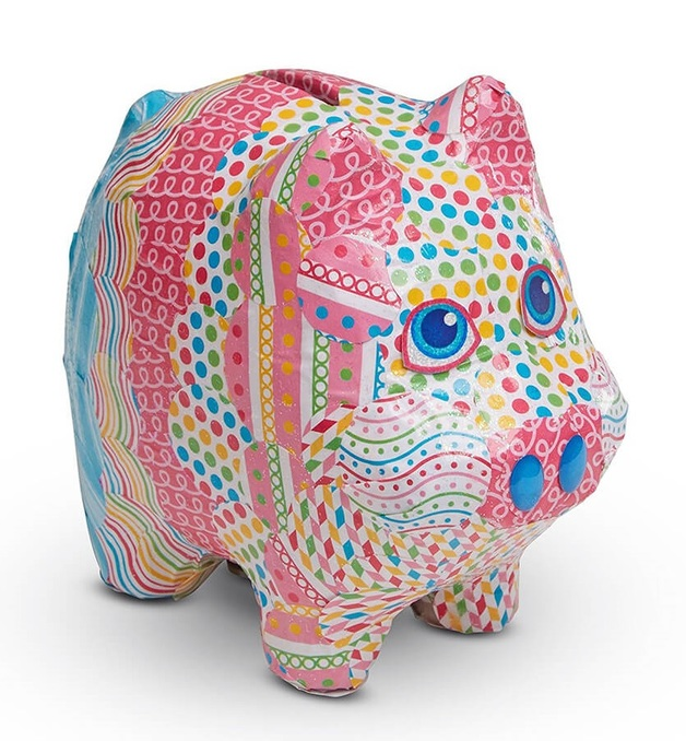 Melissa & Doug: Piggy Bank - Decoupage Craft Set