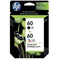 HP 60 Ink Cartridge Combo Pack - Black + Tri-Colour
