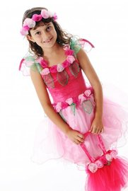 Fairy Girls - Primrose Fairy Dress in Pink (Large, age 6-8)