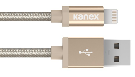 Kanex: Premium Lightning to USB 4ft Braided Charge and Sync Cable - Gold