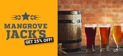 25% OFF Mangrove Jacks Brewing Tools & Kits!