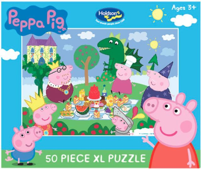 Holdson: Kids Peppa Pig - The Fairy Tale Picnic - 50 XL Piece Puzzle image
