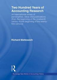 Two Hundred Years of Accounting Research by Richard Mattessich